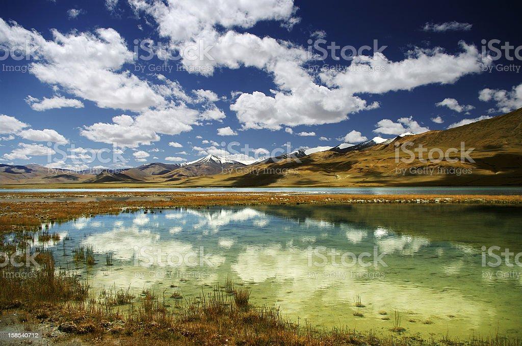 Tso kar lake royalty-free stock photo