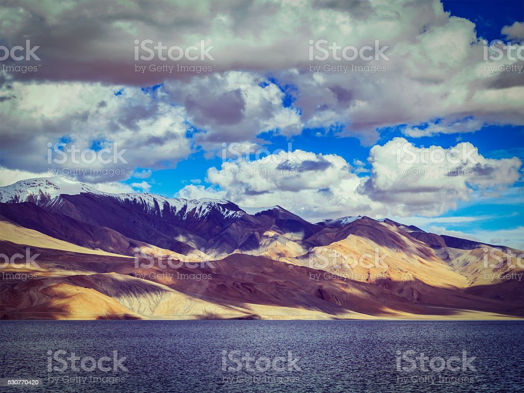 Tso Moriri, Ladakh stock photo
