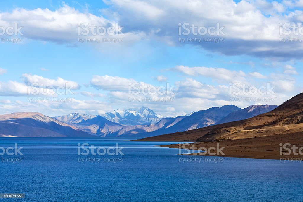 Tso Moriri lake in Ladakh, Jammu and Kashmir, North India. stock photo
