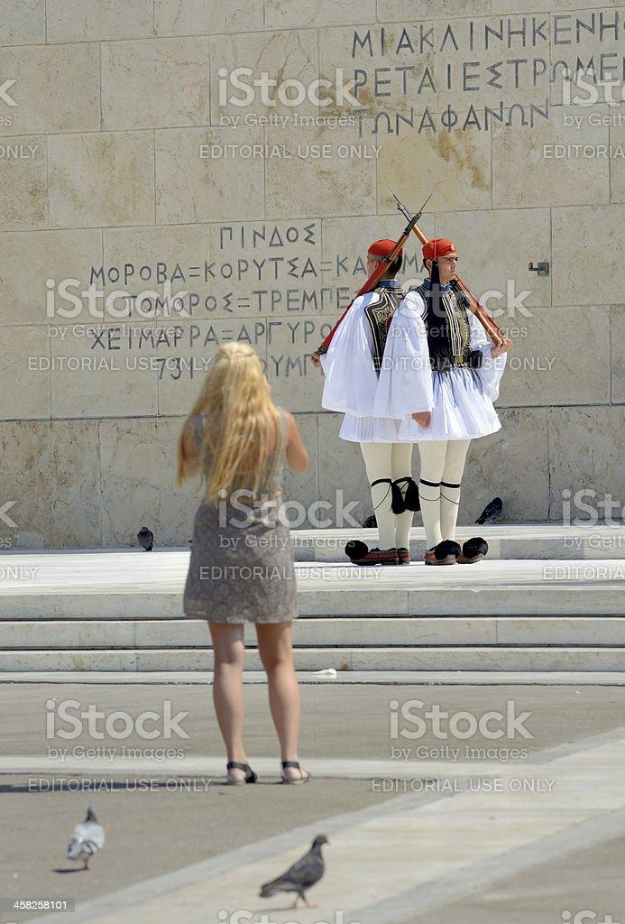 Tsoliades Presidential Guard - Greece stock photo