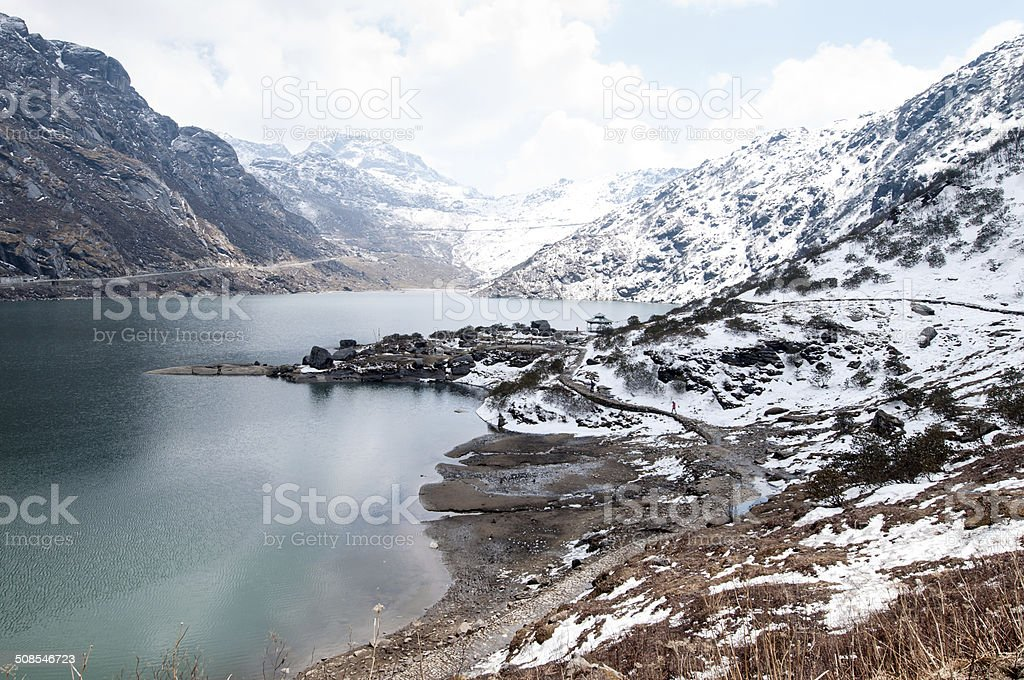 Tsomgo (Changu) Lake stock photo