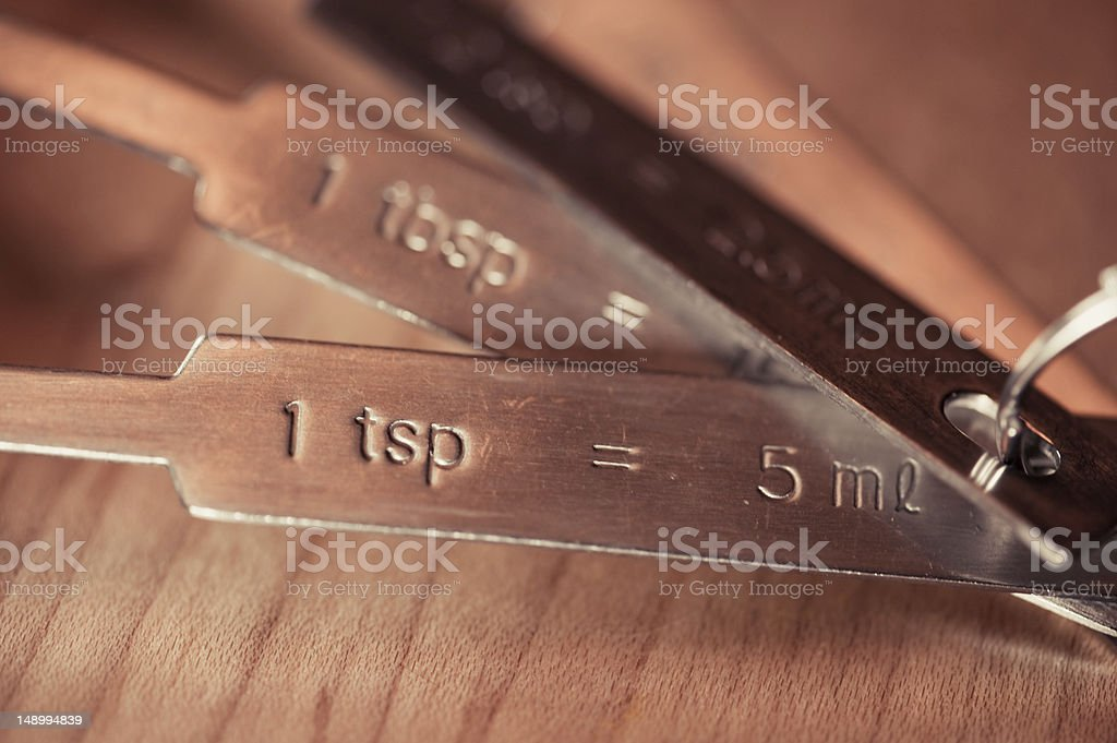 tsp Measuring Spoon royalty-free stock photo