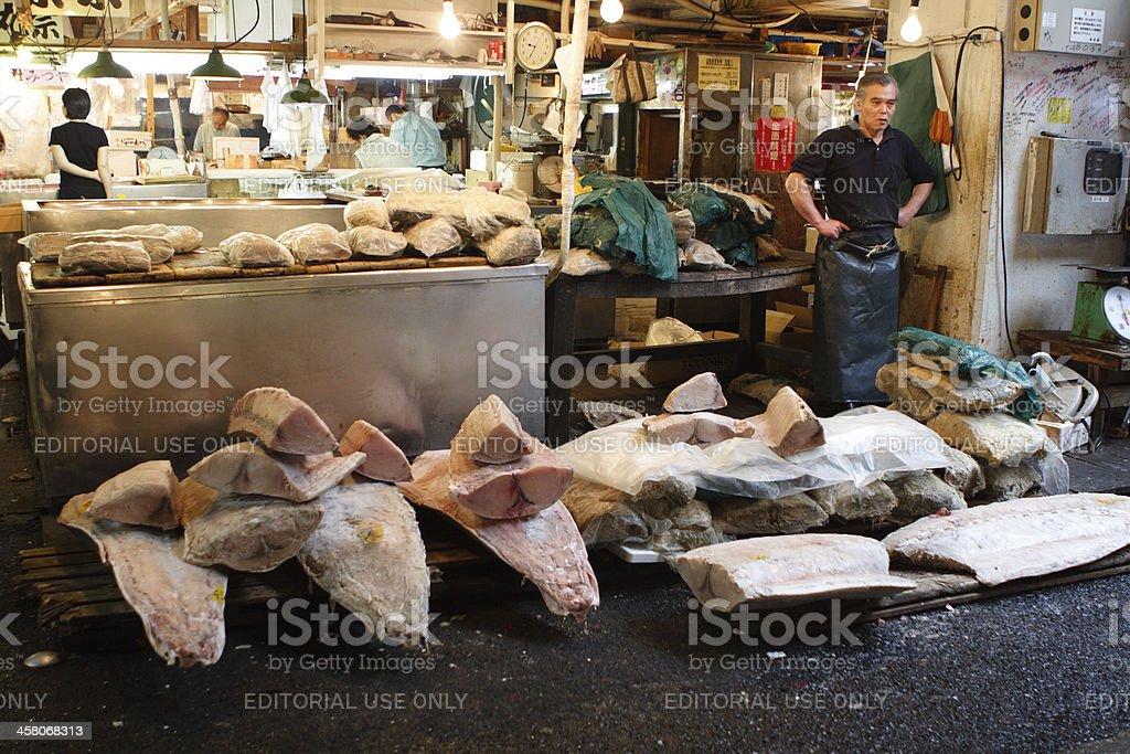 Tsukiji Fish Market royalty-free stock photo