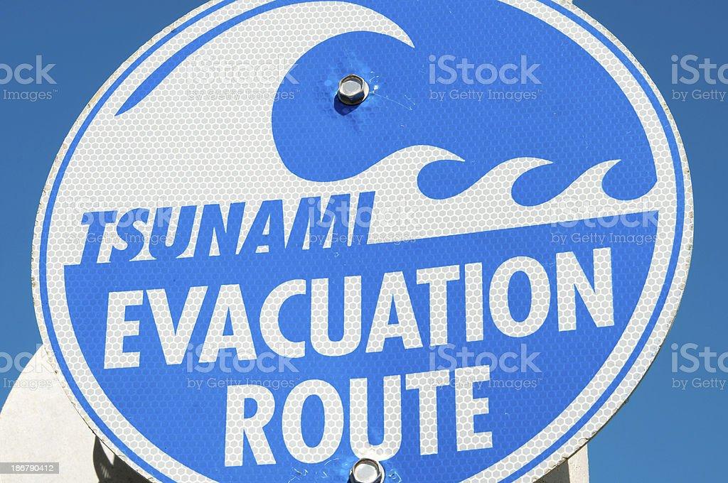 Tsunami Evacuation stock photo