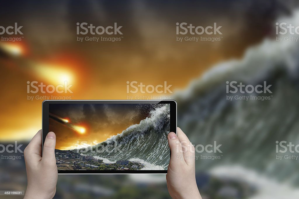 Tsunami photograph stock photo