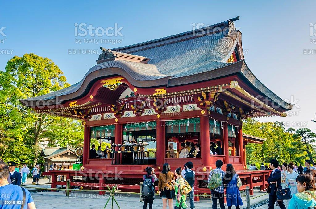 Tsurugaoka Hachimangu shrine - Kamakura, Japan royalty-free stock photo