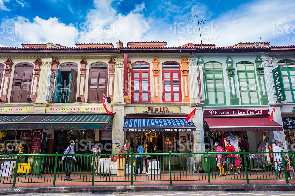 ttle India district in Singapore. stock photo
