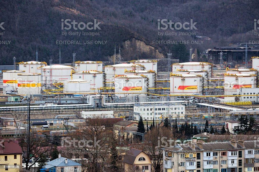 Tuapse refinery. Russia stock photo
