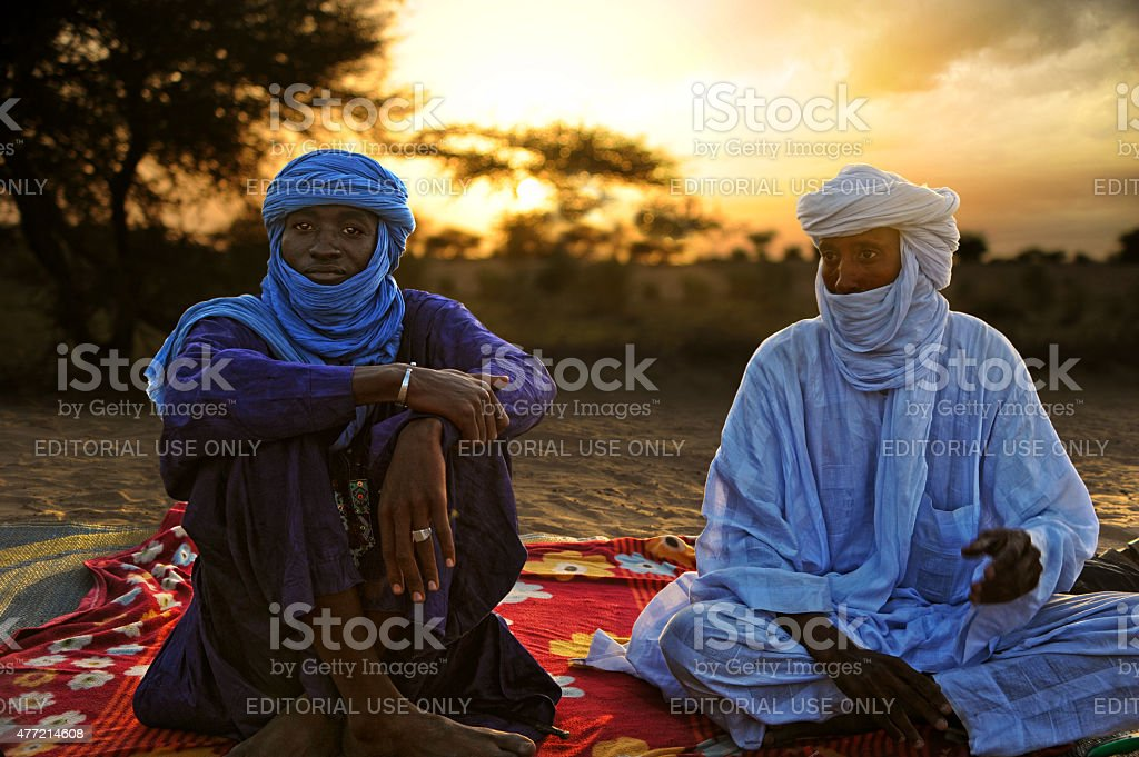 Tuaregs in Timbuktu stock photo