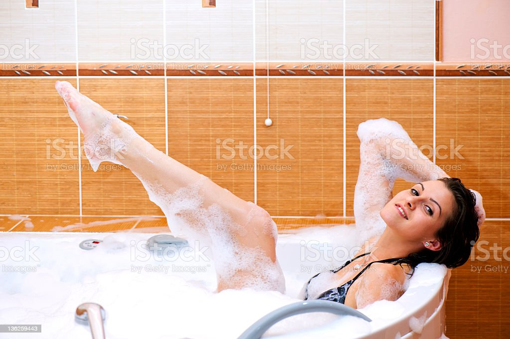tub with lots of foam royalty-free stock photo