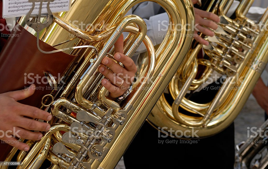 Tuba detail stock photo
