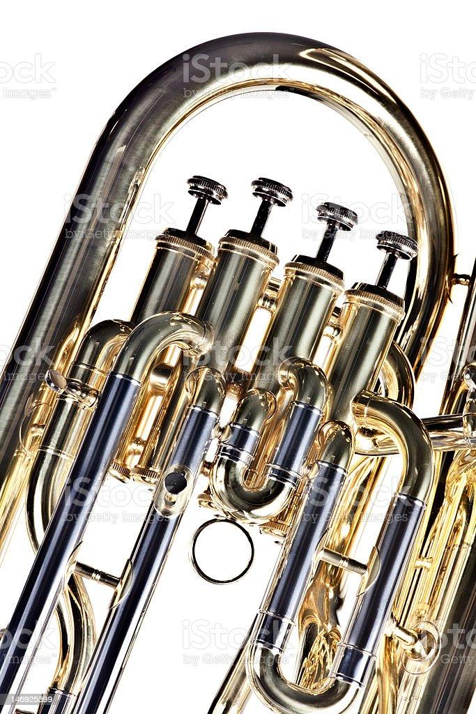 Tuba Euphonium Isolated on White stock photo