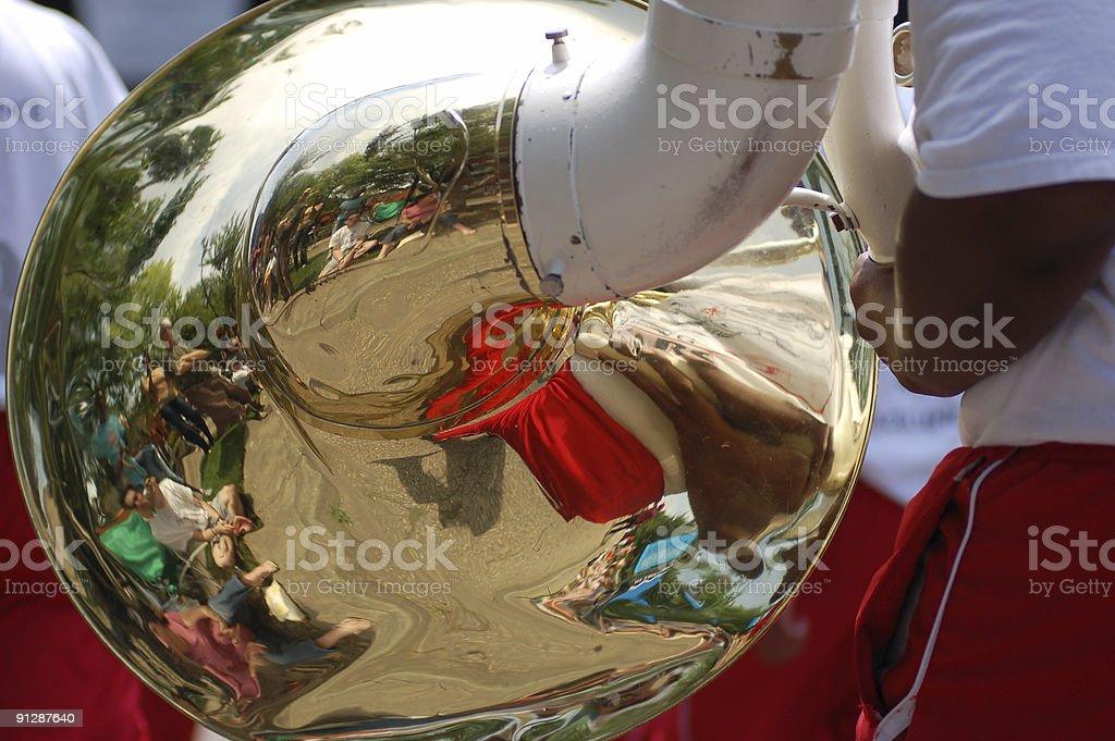 Tuba eye view royalty-free stock photo