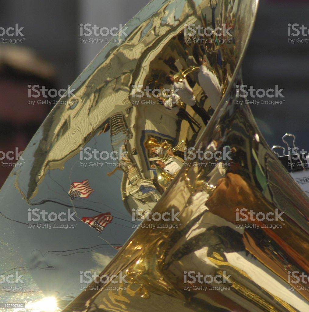 Tuba Horn royalty-free stock photo