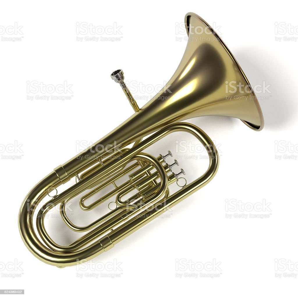 tuba musical instrument stock photo