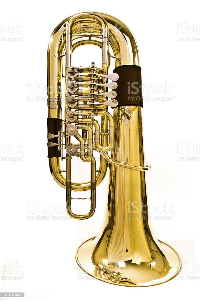 Tuba royalty-free stock photo
