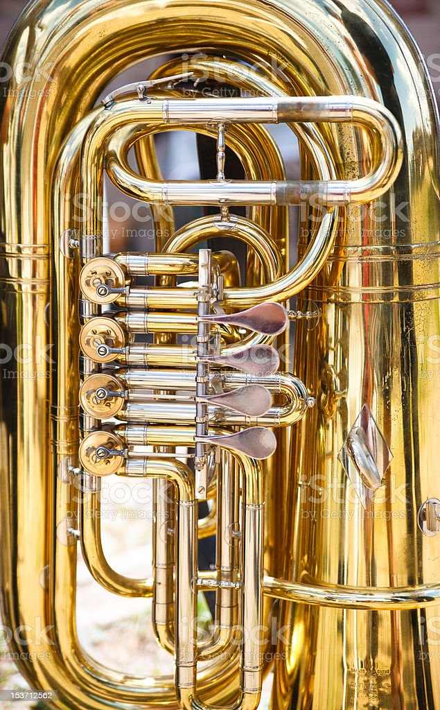 Tuba stock photo