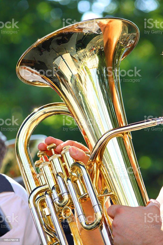 Tuba royalty-free stock photo