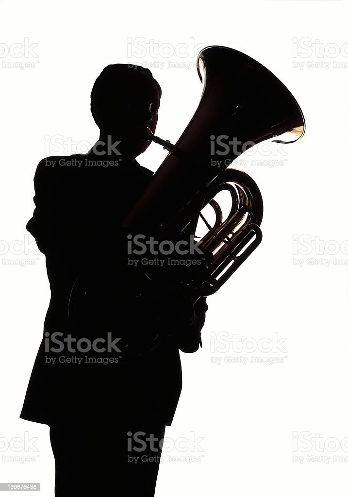 Tuba Player 002 stock photo