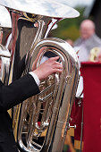 Tuba Player in a Brass Band