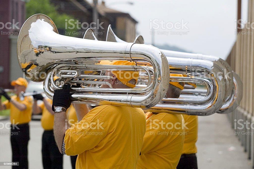 Tuba players stock photo