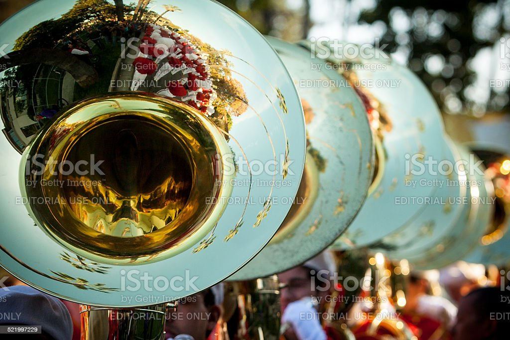 Tuba Section stock photo
