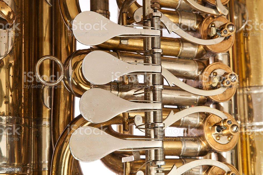 Válvulas de Tuba foto royalty-free