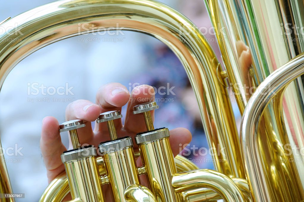 Tuba valves stock photo
