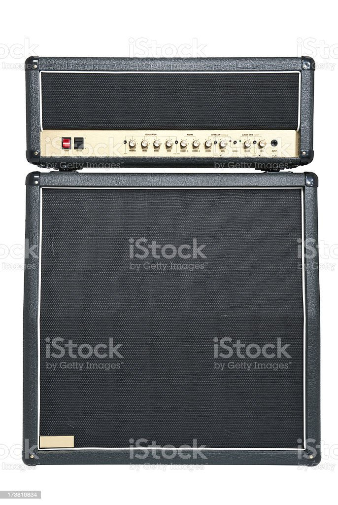 Tube Amplifier Combo royalty-free stock photo