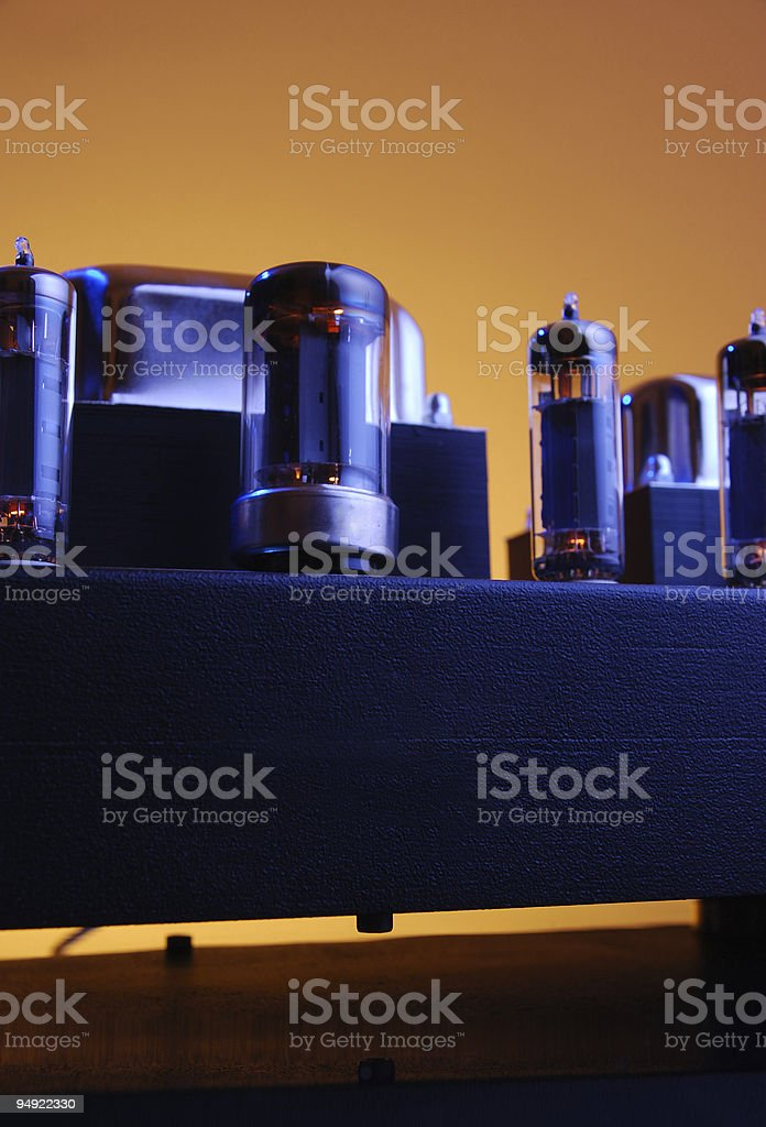 Tube amplifier royalty-free stock photo