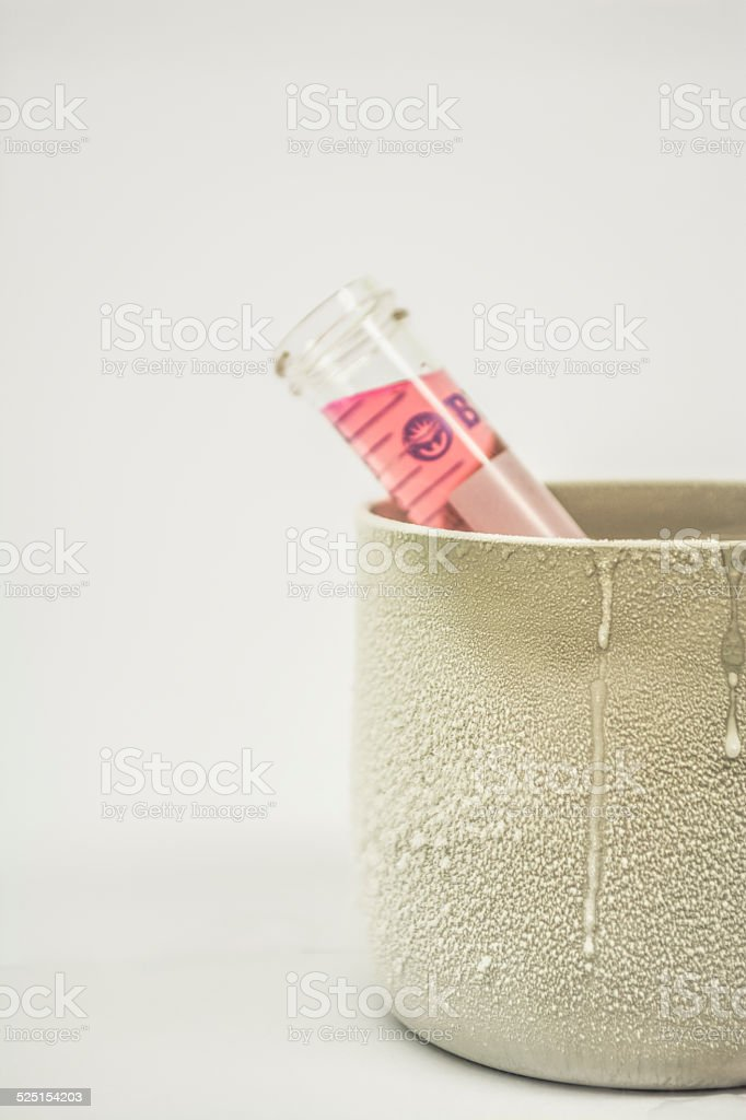 Tube In Ice stock photo