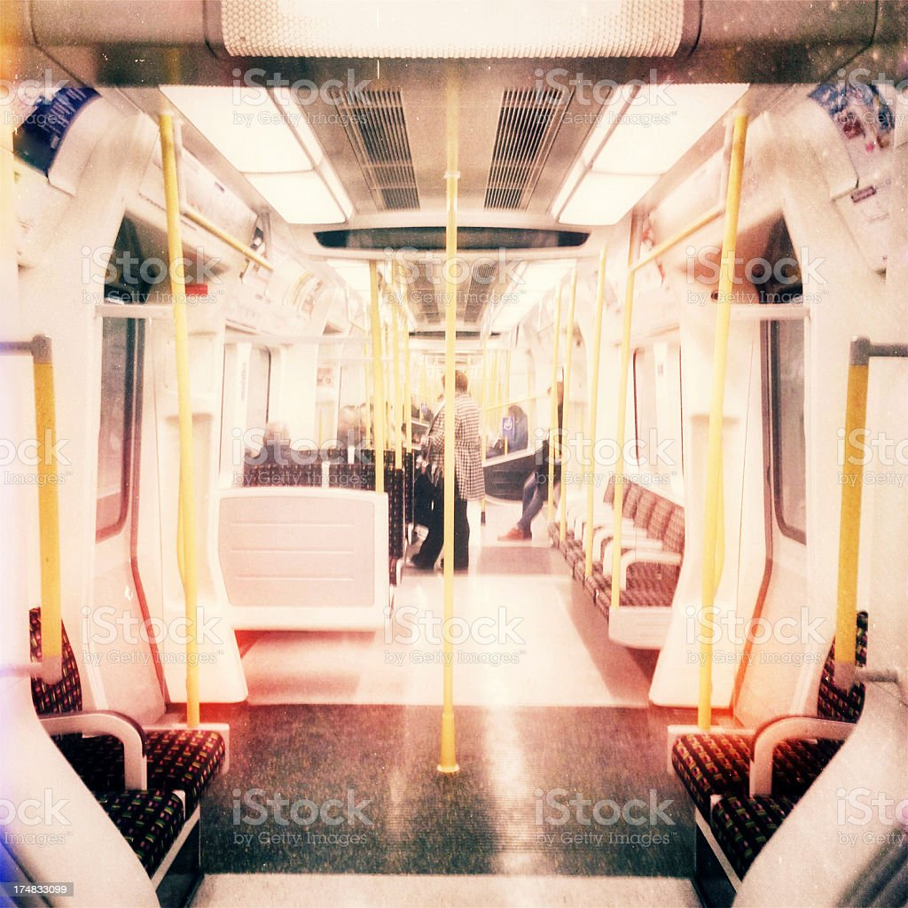 Tube journey royalty-free stock photo