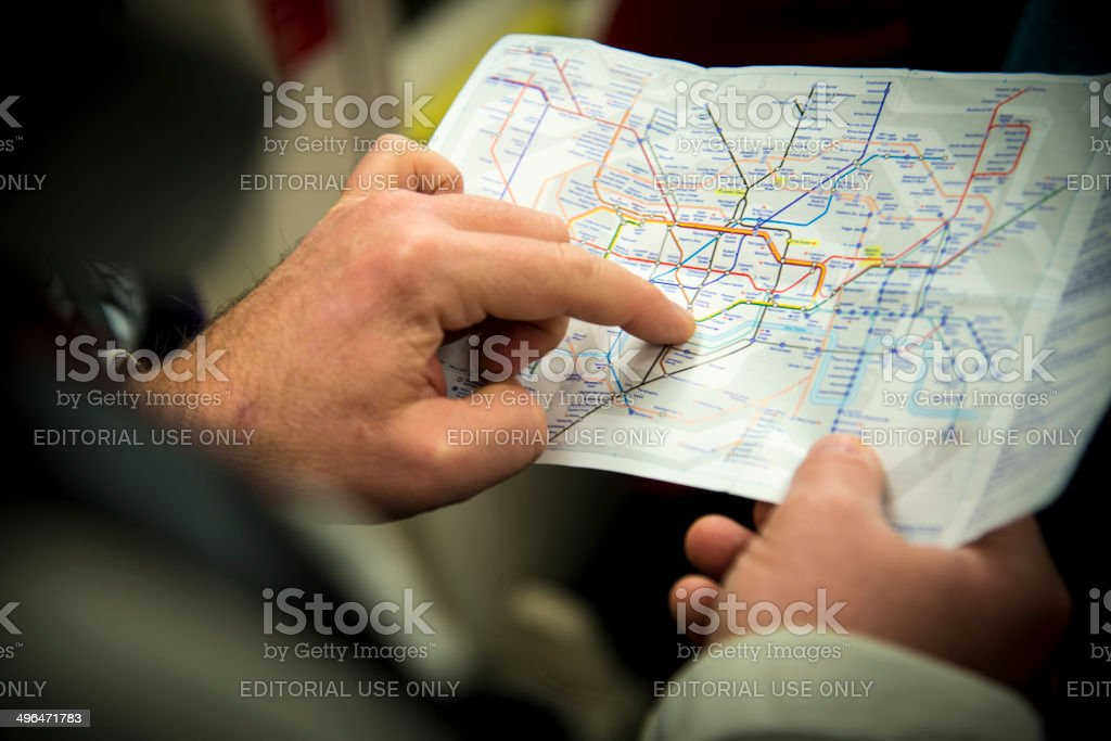 Tube map stock photo