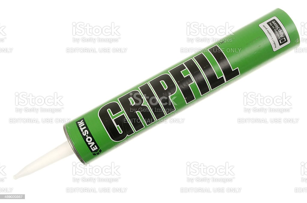 Tube Of Gripfill Construction Adhesive royalty-free stock photo