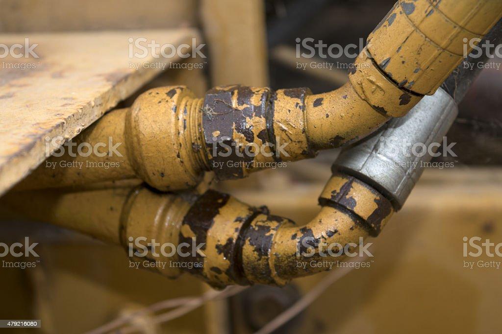 tube of motor stock photo