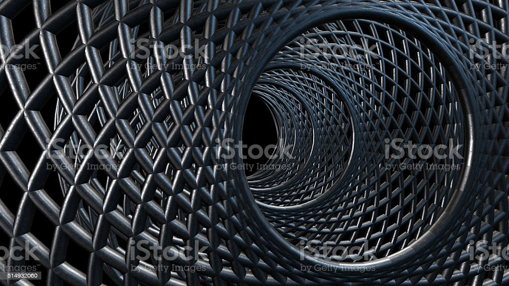 Tube of Steel wire abstract background royalty-free stock photo