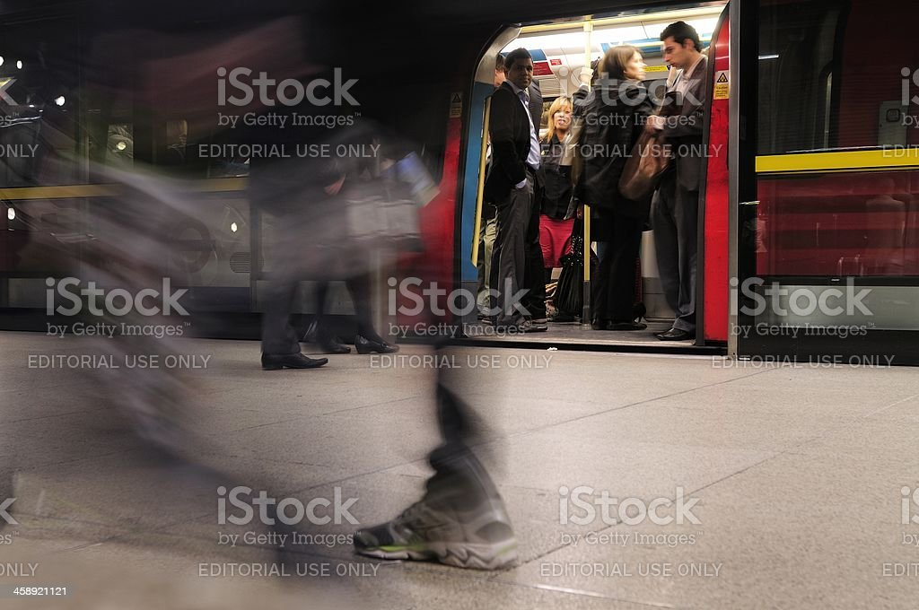 Tube passengers royalty-free stock photo