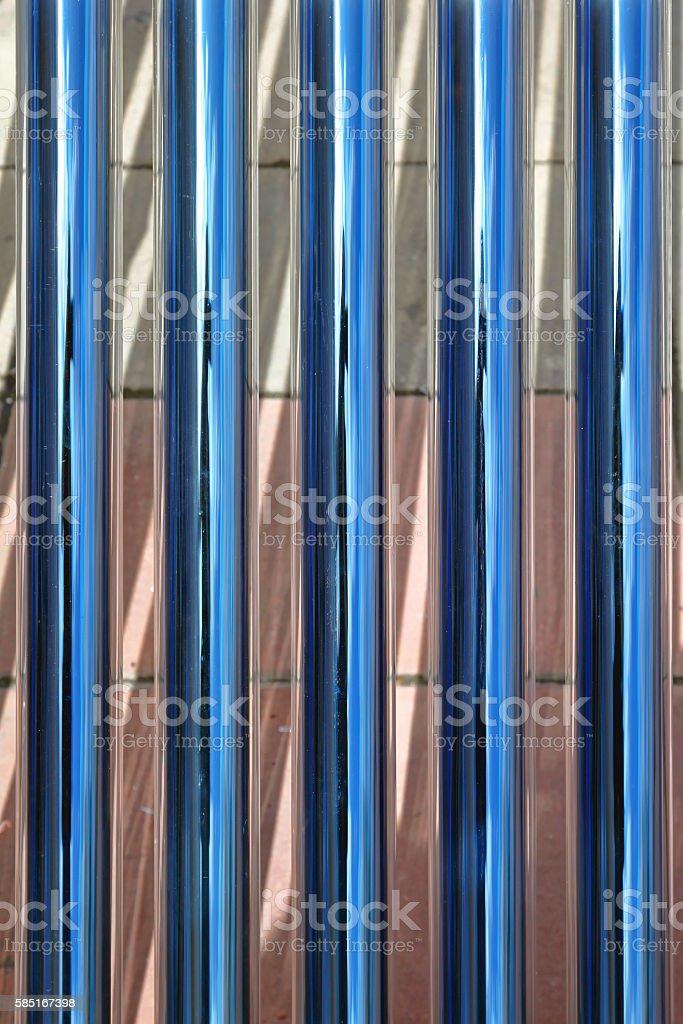 Tube Solar Collectors stock photo