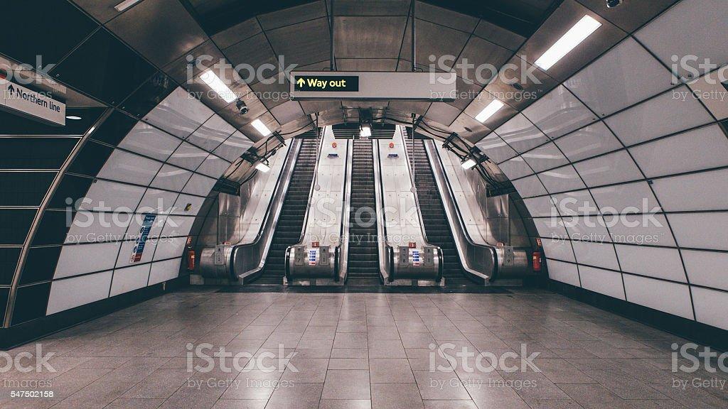 Tube Station Architecture stock photo