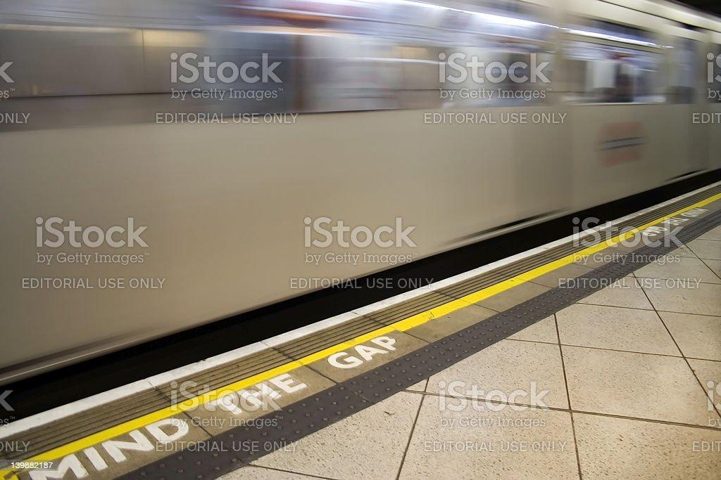 Tube Train royalty-free stock photo