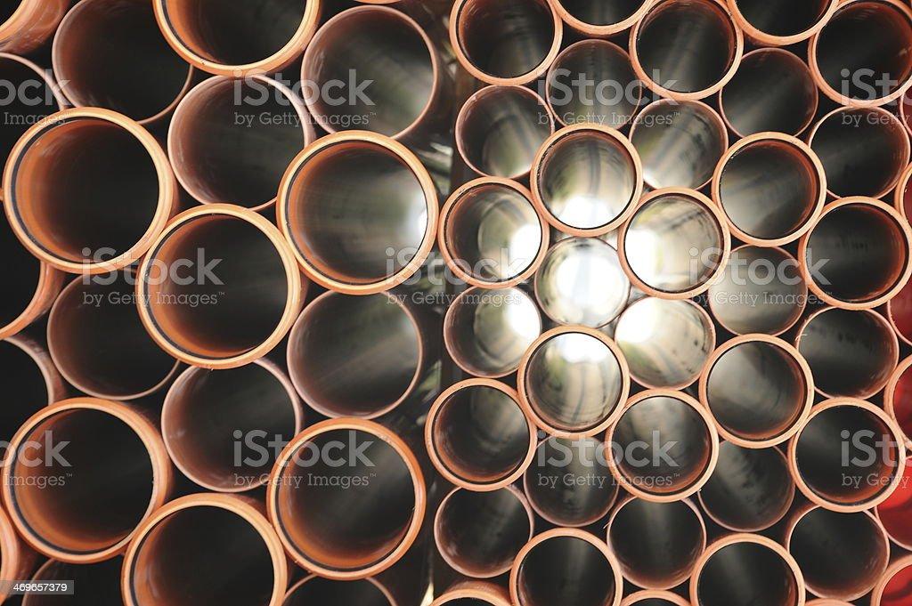 Tubes background stock photo