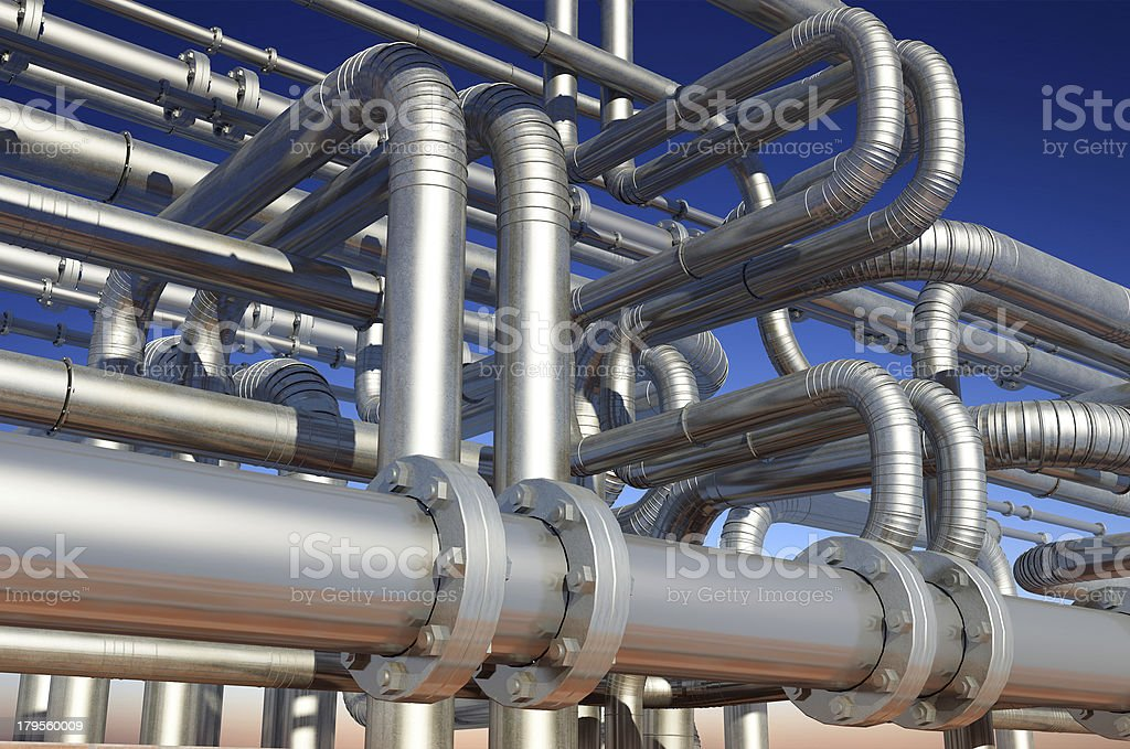 Tubes of actory stock photo