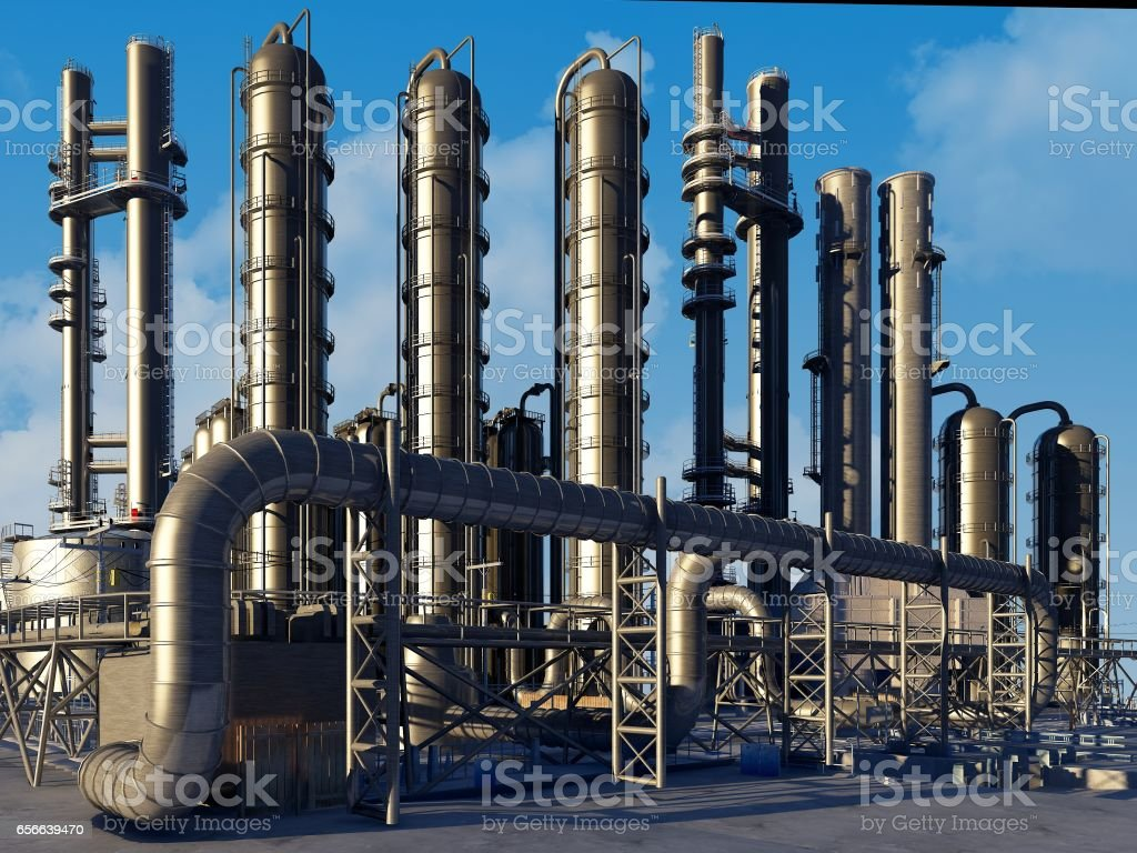 Tubes of factory stock photo