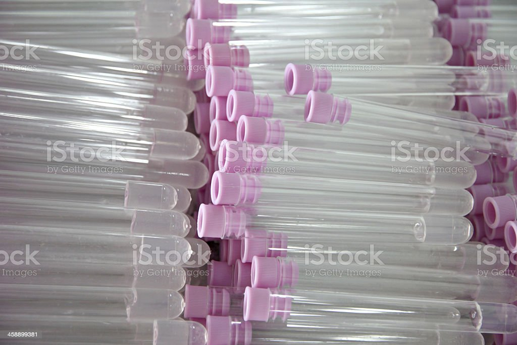 Tubes used to collect samples of stool test. royalty-free stock photo
