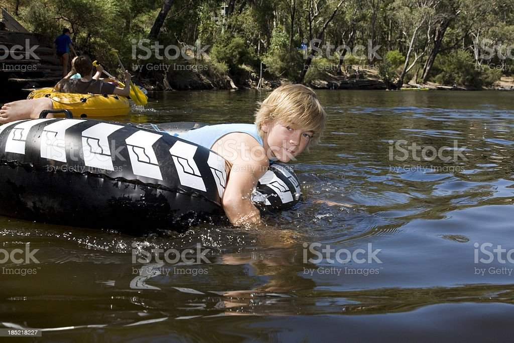 Tubing On The River stock photo