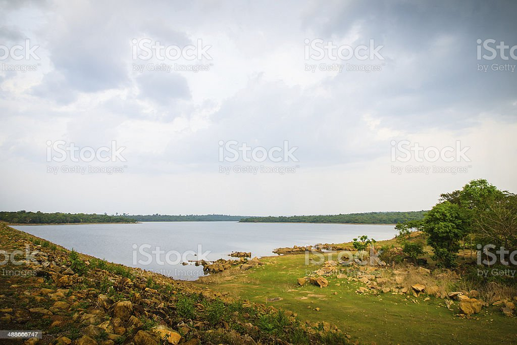 Tublan National park lake with forest stock photo