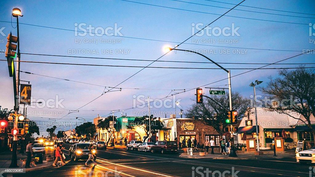 Tucson, 4th Avenue. stock photo