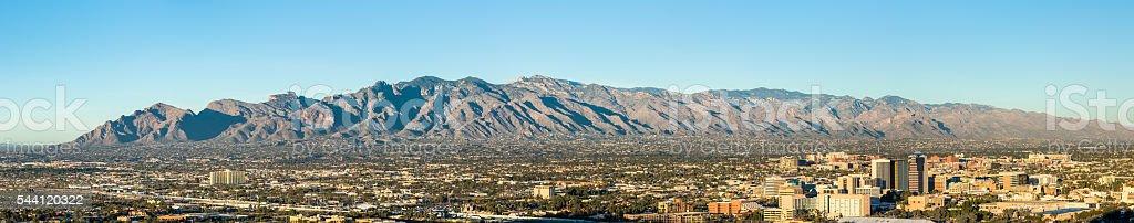 Tucson Arizona from Sentinel Peak Park stock photo