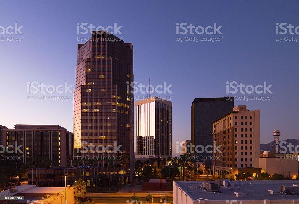 Tucson at sunset stock photo