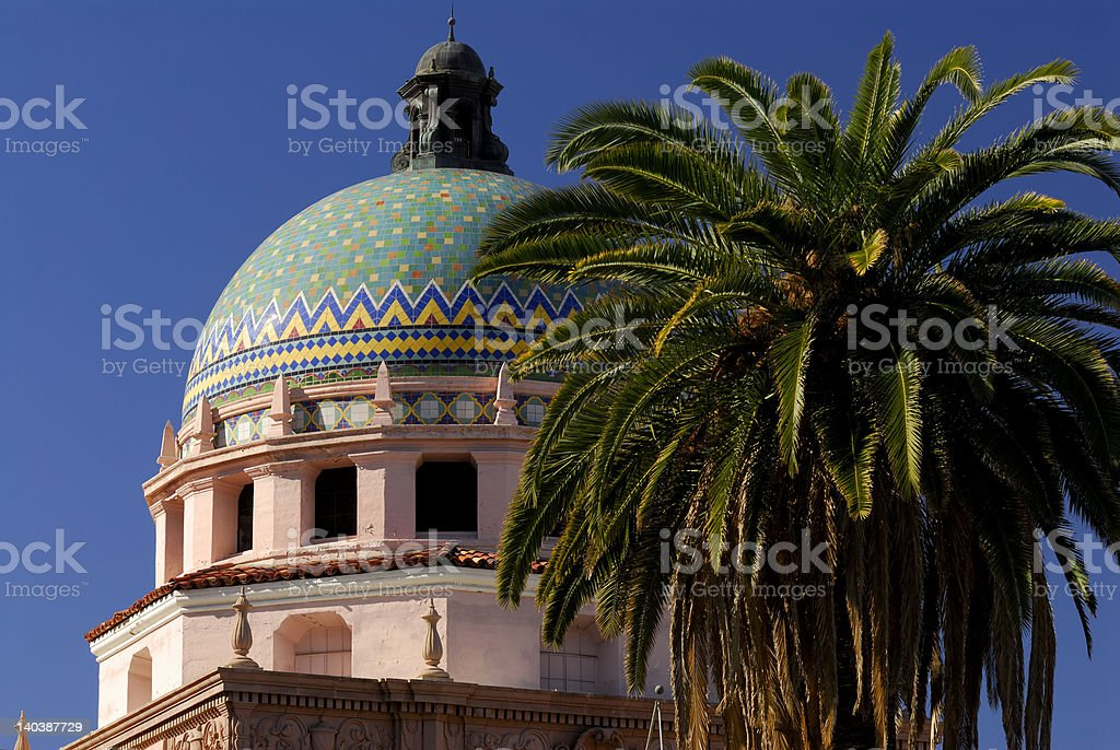 Tucson City Hall Dome royalty-free stock photo